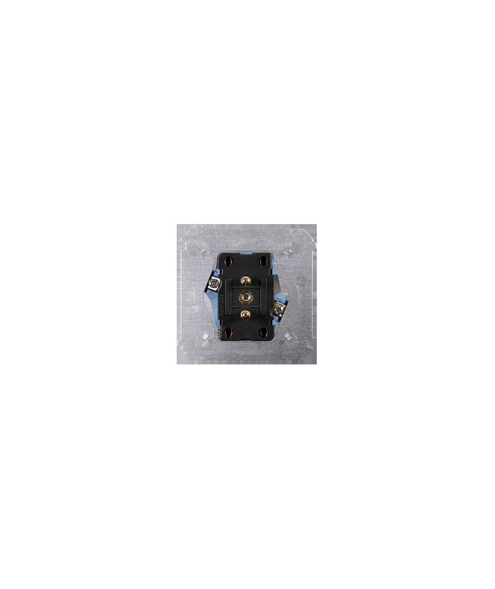 Simon54 Gniazdo wtyczkowe podwójne z uziemieniem SGZ2M
