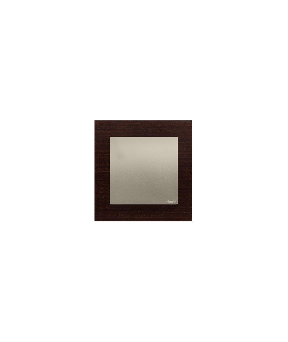 Simon 54 Nature- Ramka 1-krotna drewniana złote wenge