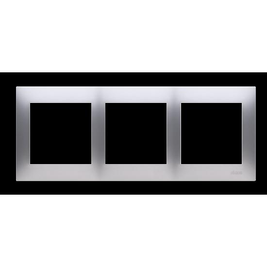 Simon 54 Ramka 3-krotna do puszek karton-gips srebrny mat, metalizowany DRK3/43