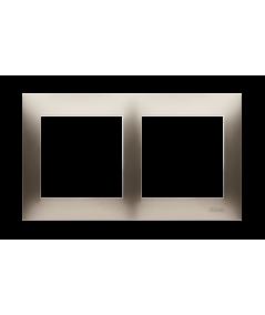 Simon 54 Ramka 2-krotna do puszek karton-gips złoty mat, metalizowany  DRK2/44