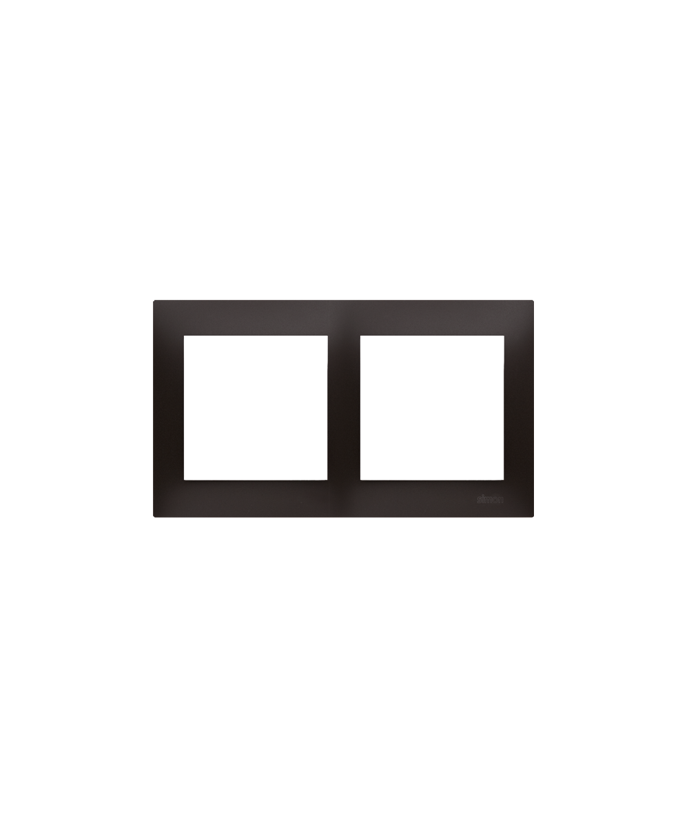 Simon 54 Ramka 2-krotna do puszek karton-gips antracyt, metalizowany  DRK2/48