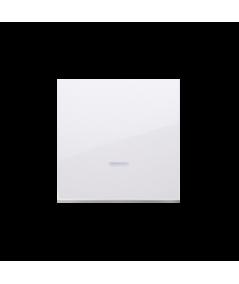 Simon 54 Klawisz pojedynczy z oczkiem do łączników i przycisków podświetlanych biały  DKW1L/11