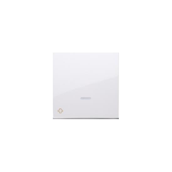 Simon 54 Klawisz pojedynczy z oczkiem do łączników i przycisków podświetlanych antybakteryjny biały  DKW1L/AB11