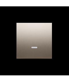Simon 54 Klawisz pojedynczy z oczkiem do łączników i przycisków podświetlanych złoty mat, metalizowany  DKW1L/11
