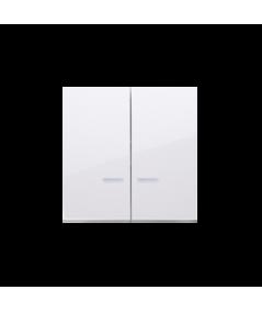 Simon 54 Klawisz podwójny do łączników i przycisków podświetlanych biały  DKW5L/11