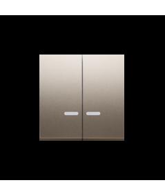 Simon 54 Klawisz podwójny do łączników i przycisków podświetlanych złoty mat, metalizowany  DKW5L/44