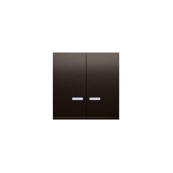 Simon 54 Klawisz podwójny do łączników i przycisków podświetlanych brąz mat, metalizowany  DKW5L/46