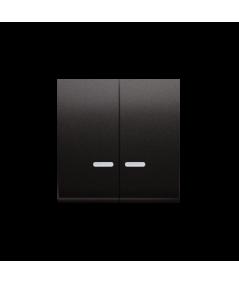 Simon 54 Klawisz podwójny do łączników i przycisków podświetlanych antracyt, metalizowany  DKW5L/48