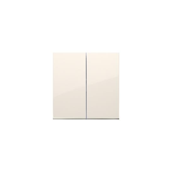 Simon 54 Klawisz podwójny do łączników i przycisków kremowy  DKW5/41