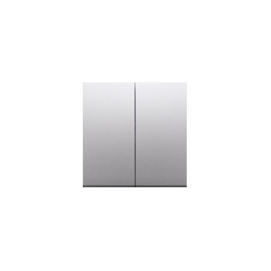 Simon 54 Klawisz podwójny do łączników i przycisków srebrny mat, metalizowany  DKW5/43
