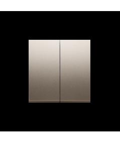 Simon 54 Klawisz podwójny do łączników i przycisków złoty mat, metalizowany  DKW5/44