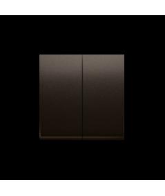 Simon 54 Klawisz podwójny do łączników i przycisków brąz mat, metalizowany  DKW5/46