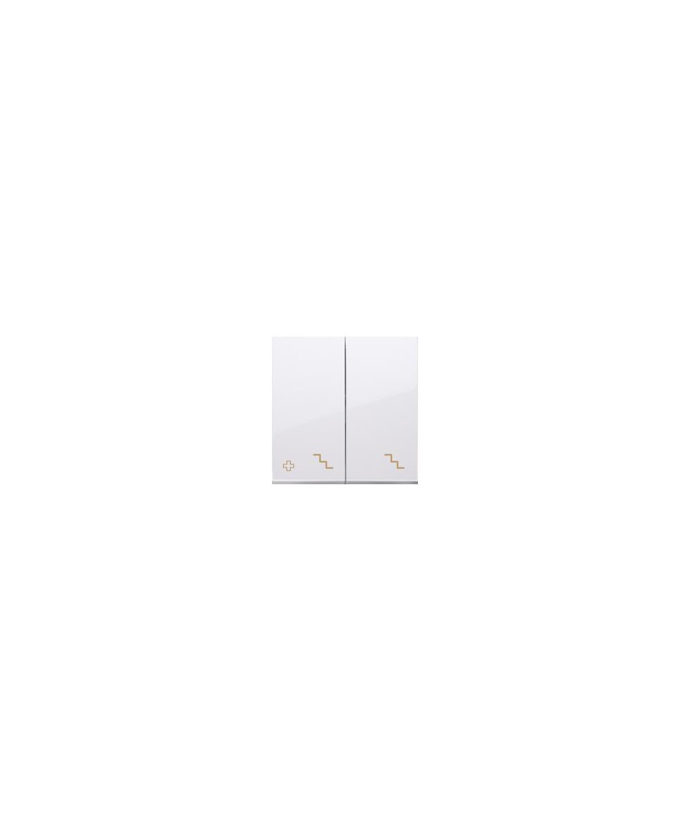 Simon 54 Klawisze do łącznika podwójnego schodowego SW6/2M antybakteryjny biały  DKW6/2/AB11