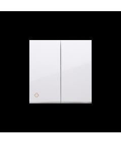 Simon 54 Klawisze do mechanizmów: SW7/2XM, SW6P1M antybakteryjny biały  DKW9/AB11