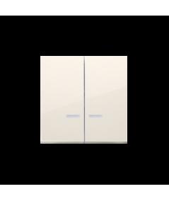 Simon 54 Klawisze podwójne z oczkiem do mechanizmów: SW6/2XLM, SW7/2XM, SW6P1M kremowy  DKW9L/41