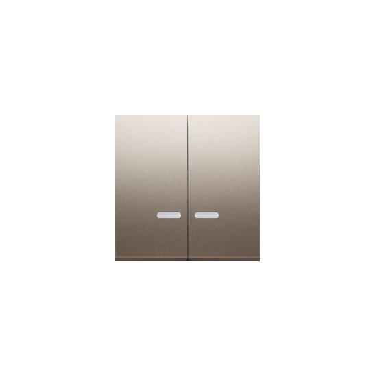 Simon 54 Klawisze podwójne z oczkiem do mechanizmów: SW6/2XLM, SW7/2XM, SW6P1M złoty mat, metalizowany  DKW9L/44