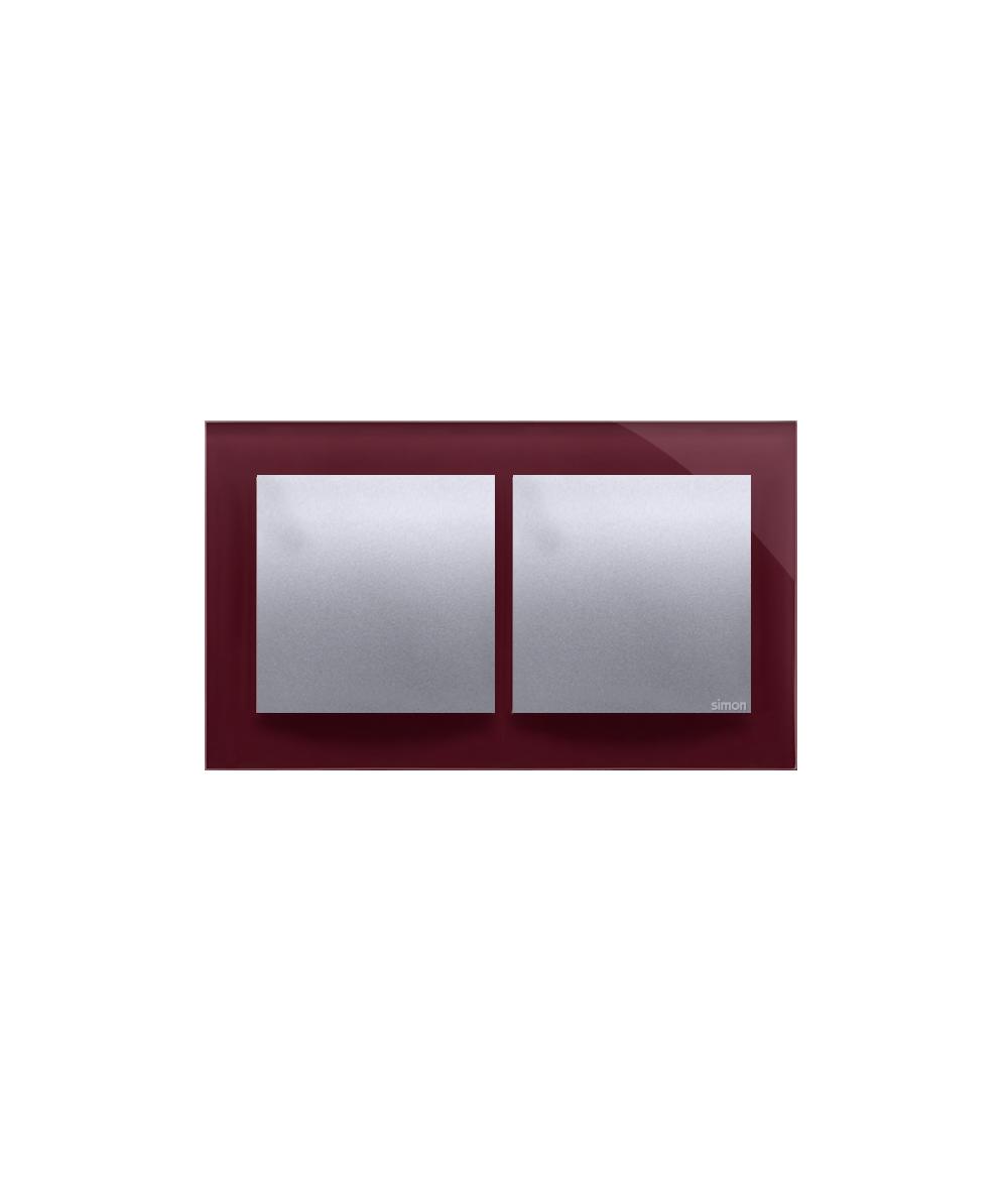 Simon 54 Nature- Ramka 2- krotna szklana kusząca śliwka