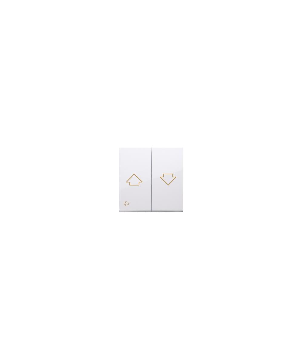 Simon 54 Klawisze do przycisku żaluzjowego SZP1M antybakteryjny biały  DKZP1/AB11