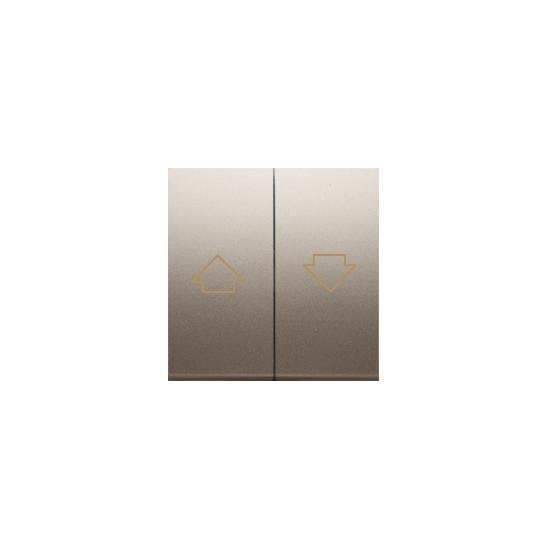 Simon 54 Klawisze do przycisku żaluzjowego SZP1M złoty mat, metalizowany  DKZP1/44