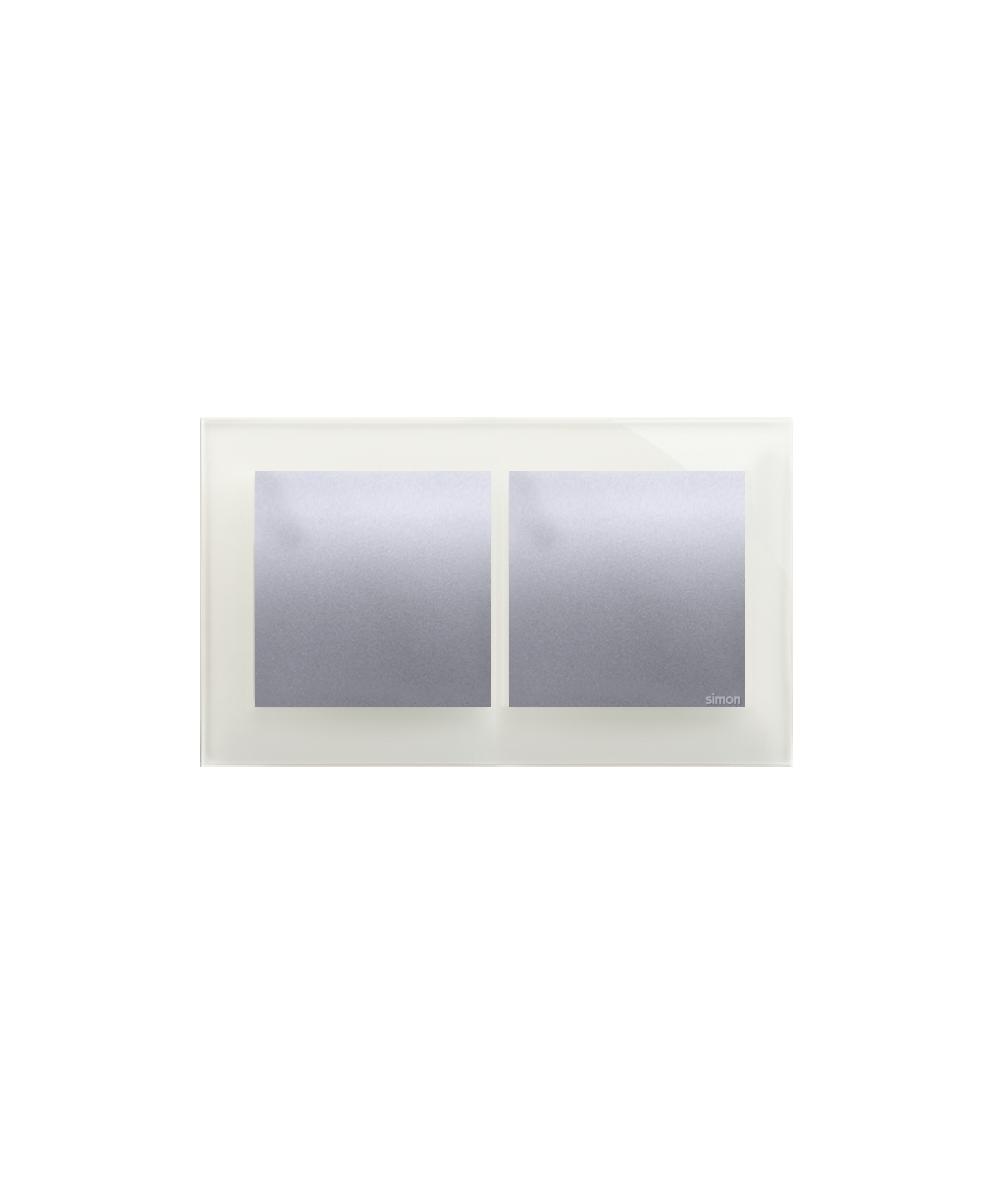 Simon 54 Nature- Ramka 2- krotna szklana srebrna mgła