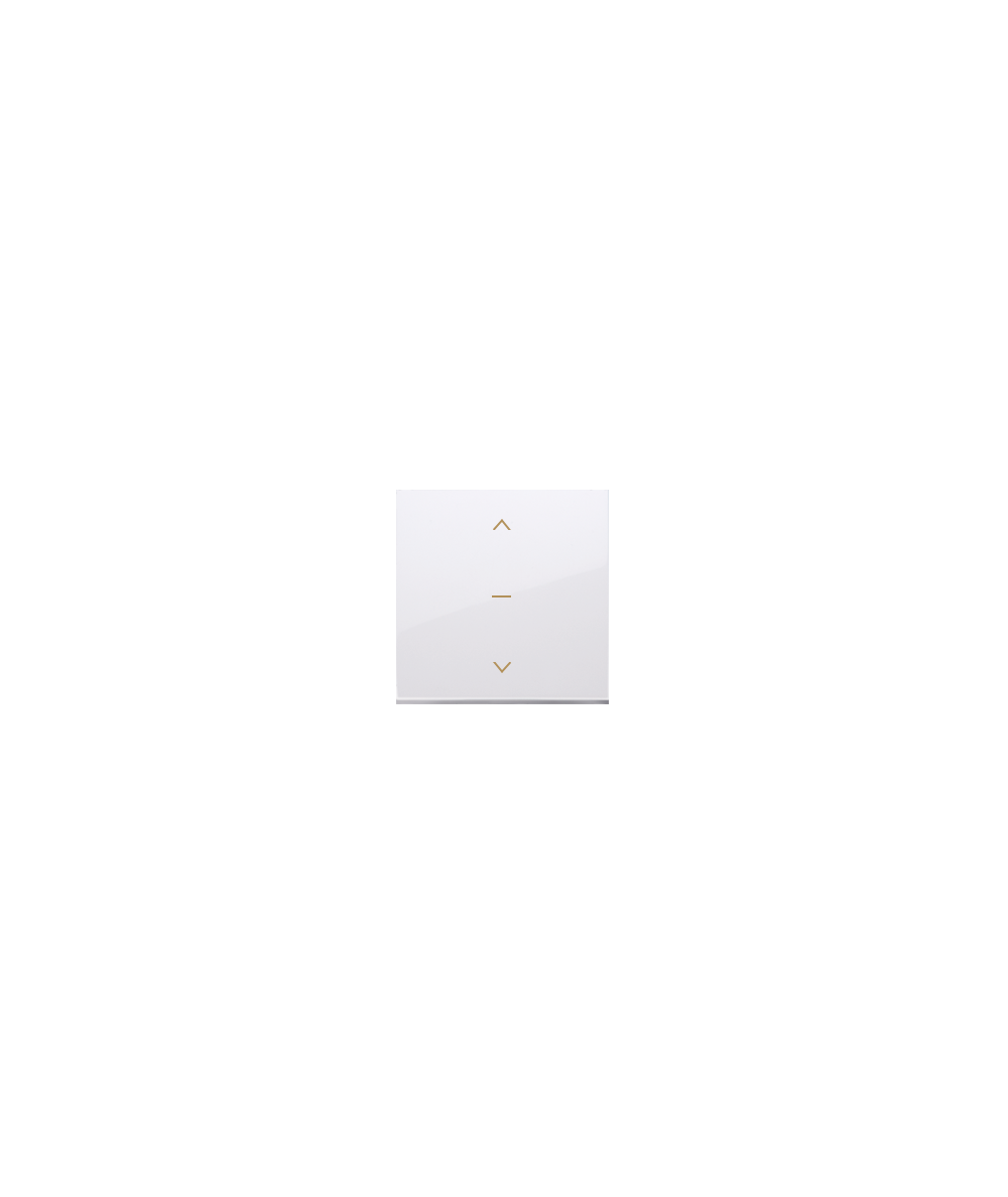 Simon 54 Klawisze do łącznika żaluzjowego pojedyńczego trójpozycyjnego 1-0-2 biały  DKZW1K/11