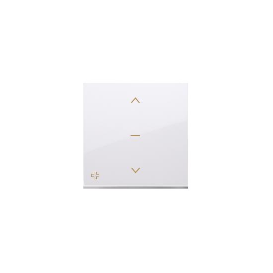Simon 54 Klawisze do łącznika żaluzjowego pojedyńczego trójpozycyjnego 1-0-2 antybakteryjny biały  DKZW1K/AB11