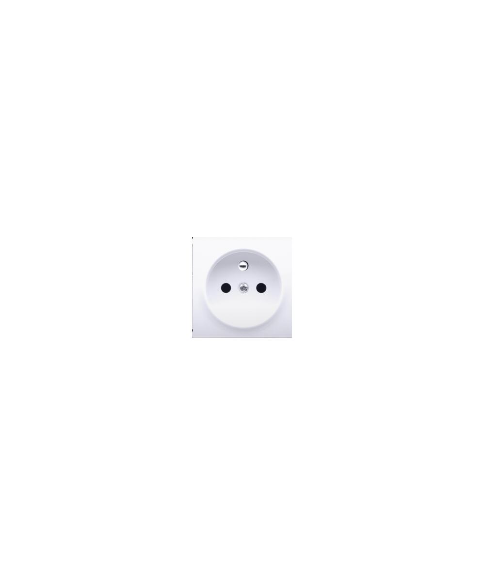 Simon 54 Pokrywa do gniazda wtyczkowego pojedynczego z uziemieniem biały  DGZ1ZP/11
