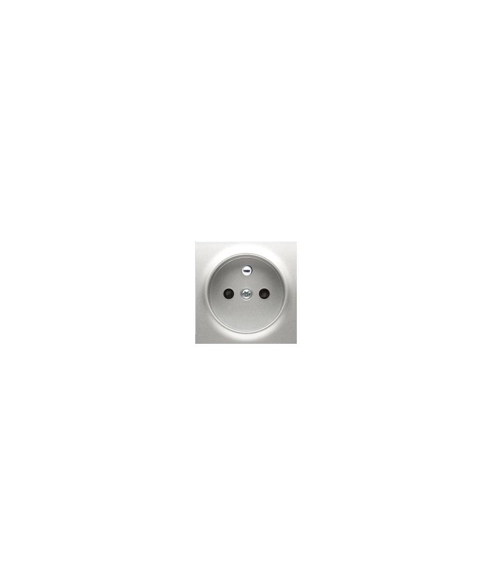 Simon 54 Pokrywa do gniazda wtyczkowego pojedynczego z uziemieniem srebrny mat, metalizowany  DGZP1ZP/43