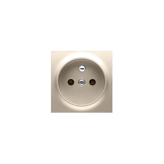 Simon 54 Pokrywa do gniazda wtyczkowego pojedynczego z uziemieniem złoty mat, metalizowany  DGZ1ZP/44