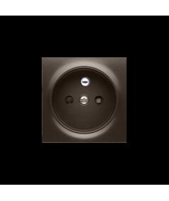 Simon 54 Pokrywa do gniazda wtyczkowego pojedynczego z uziemieniem brąz mat, metalizowany  DGZ1ZP/46
