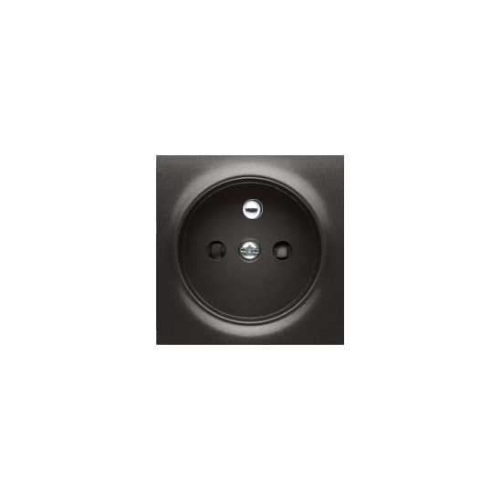 Simon 54 Pokrywa do gniazda wtyczkowego pojedynczego z uziemieniem antracyt, metalizowany   DGZ1ZP/48