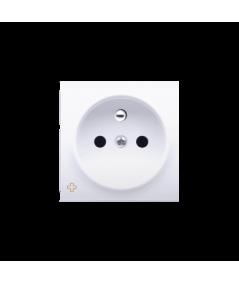 Simon 54 Pokrywa do gniazda wtyczkowego pojedynczego z uziemieniem antybakteryjny biały  DGZ1ZP/AB11