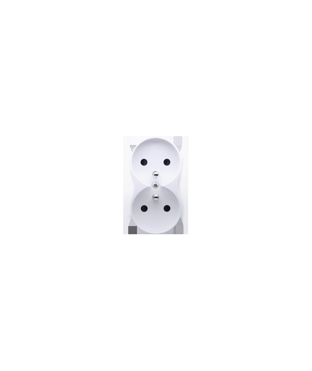 Simon 54 Pokrywa do gniazda wtyczkowego podwójnego z uziemieniem - do ramek PREMIUM biały  DGZ2MZP/11