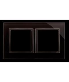 Simon 54 Nature- Ramka 2- krotna szklana zastygła lawa