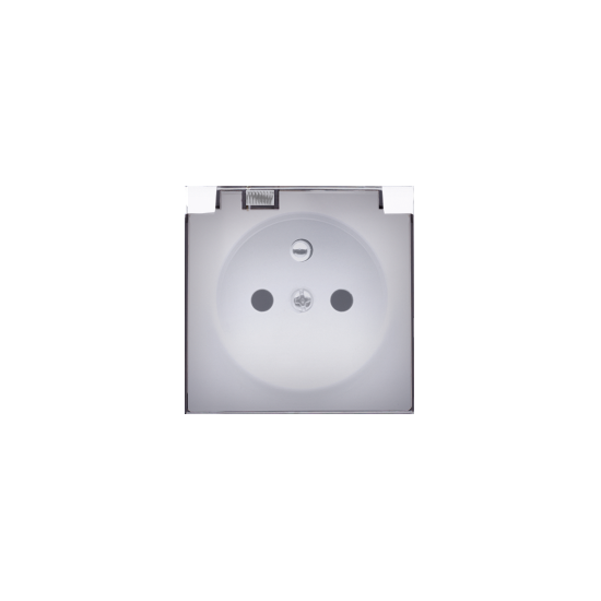 Simon 54 Pokrywa do gniazda wtyczkowego z uziemieniem - do wersji IP44- klapka w kolorze transparentnym biały  DGZ1BUZP/11A