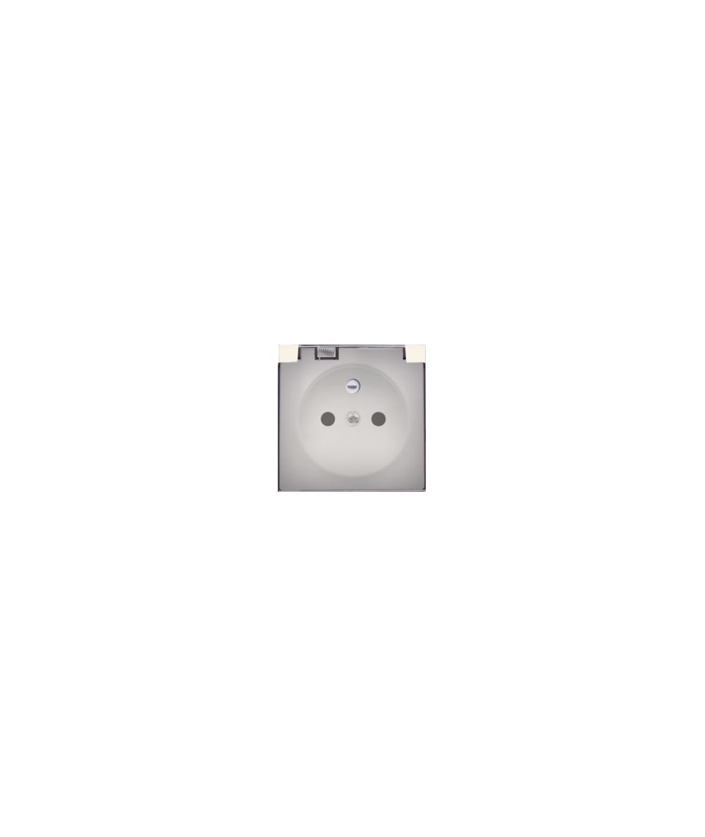 Simon 54 Pokrywa do gniazda wtyczkowego z uziemieniem - do wersji IP44- klapka w kolorze transparentnym kremowy  DGZ1BUZP/41A
