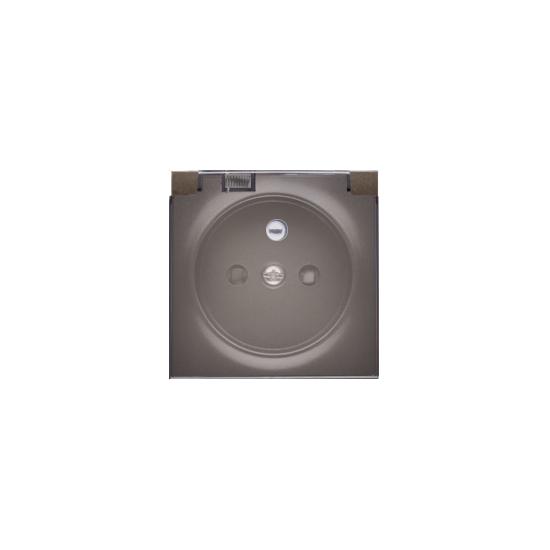 Simon 54 Pokrywa do gniazda wtyczkowego klapka w kolorze transparentnym brąz mat, metalizowany DGZ1BUZP/48A