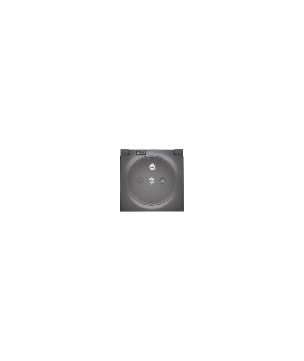 Simon 54 Pokrywa do gniazda wtyczkowego klapka w kolorze transparentnym antracyt, metalizowany
