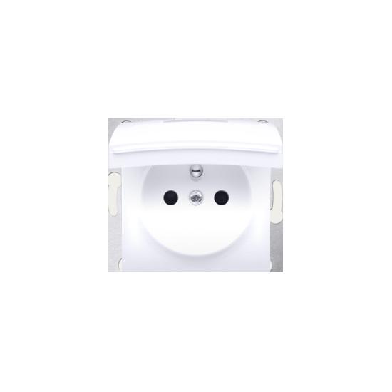 Simon 54 Pokrywa do gniazda wtyczkowego klapka w kolorze pokrywy biały  DGZ1BUZP/11