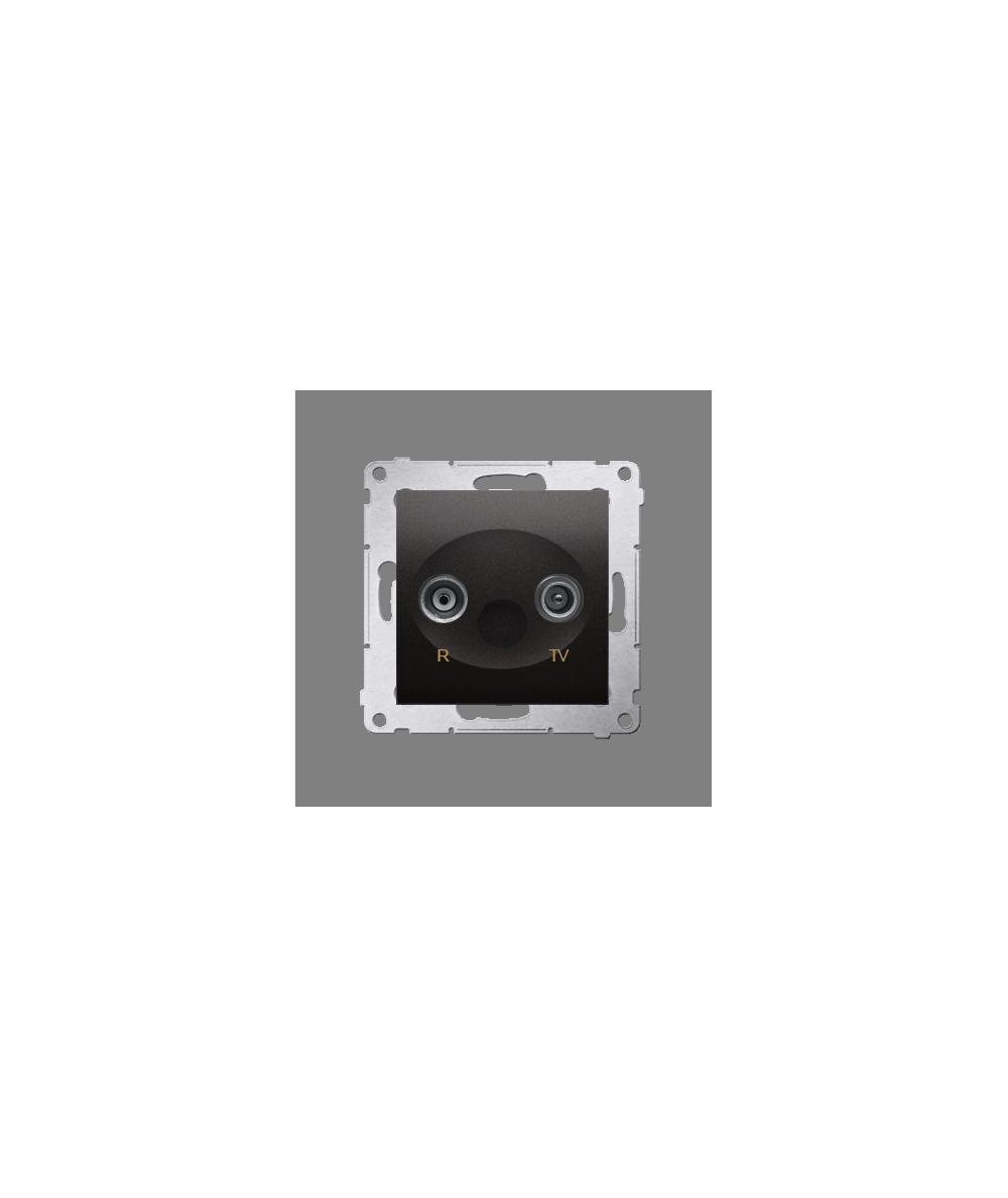 Simon 54 Gniazdo antenowe R-TV końcowe separowane tłum.:1dB antracyt, metalizowany  DAK.01/48
