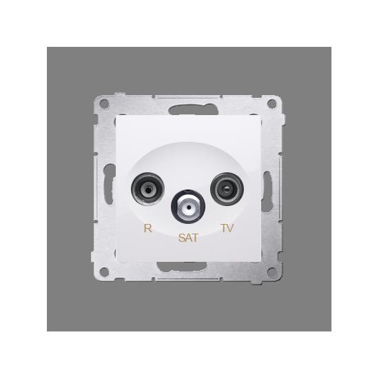 Simon 54 Gniazdo antenowe R-TV-SAT końcowe/zakończeniowe tłum.:1dB biały  DASK.01/11