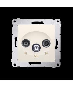 Simon 54 Gniazdo antenowe R-TV-SAT końcowe/zakończeniowe tłum.:1dB kremowy  DASK.01/41