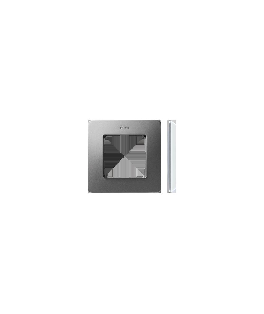 Simon 82 Detail ORIGINAL  Ramka 1-krotna aluminium biały   8200610-093