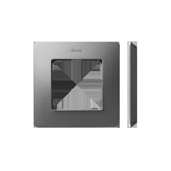 Simon 82 Detail ORIGINAL  Ramka 1-krotna aluminium czarny  8200610-293