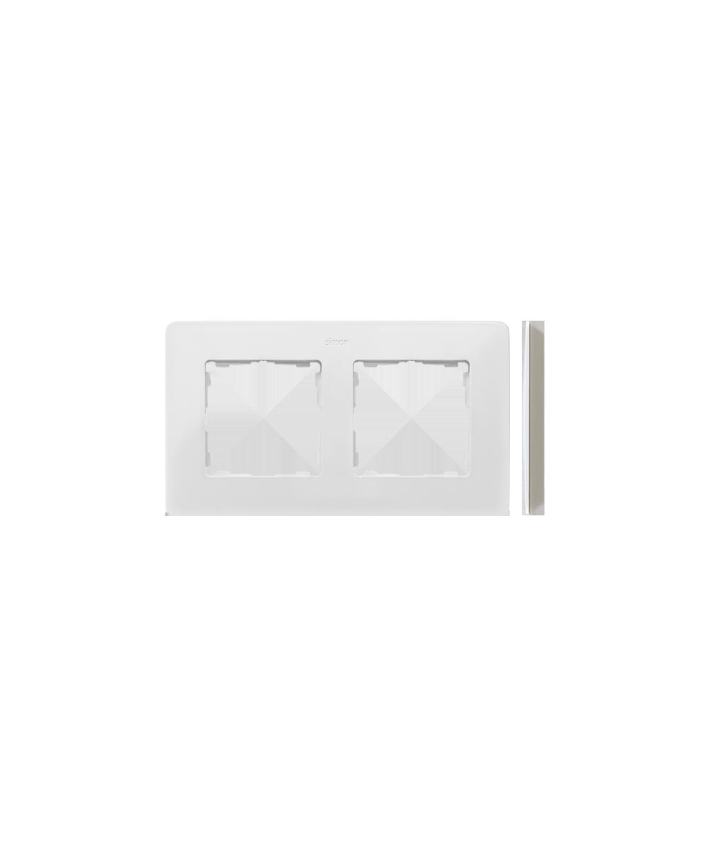 Simon 82 Detail ORIGINAL Ramka 2-krotna biały ciepły   8200620-029