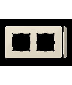 Simon 82 Detail ORIGINAL Ramka 2-krotna kremowy  8200620-031