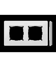 Simon 82 Detail ORIGINAL Ramka 2-krotna aluminium biały  8200620-230
