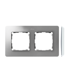 Simon 82 Detail ORIGINAL Ramka 2-krotna aluminium biały  8200620-093