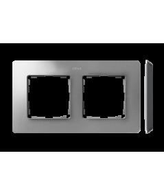 Simon 82 Detail ORIGINAL Ramka 2-krotna aluminium czarny  8200620-293