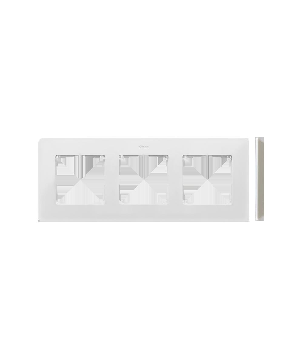 Simon 82 Detail ORIGINAL Ramka 3-krotna biały ciepły   8200630-029